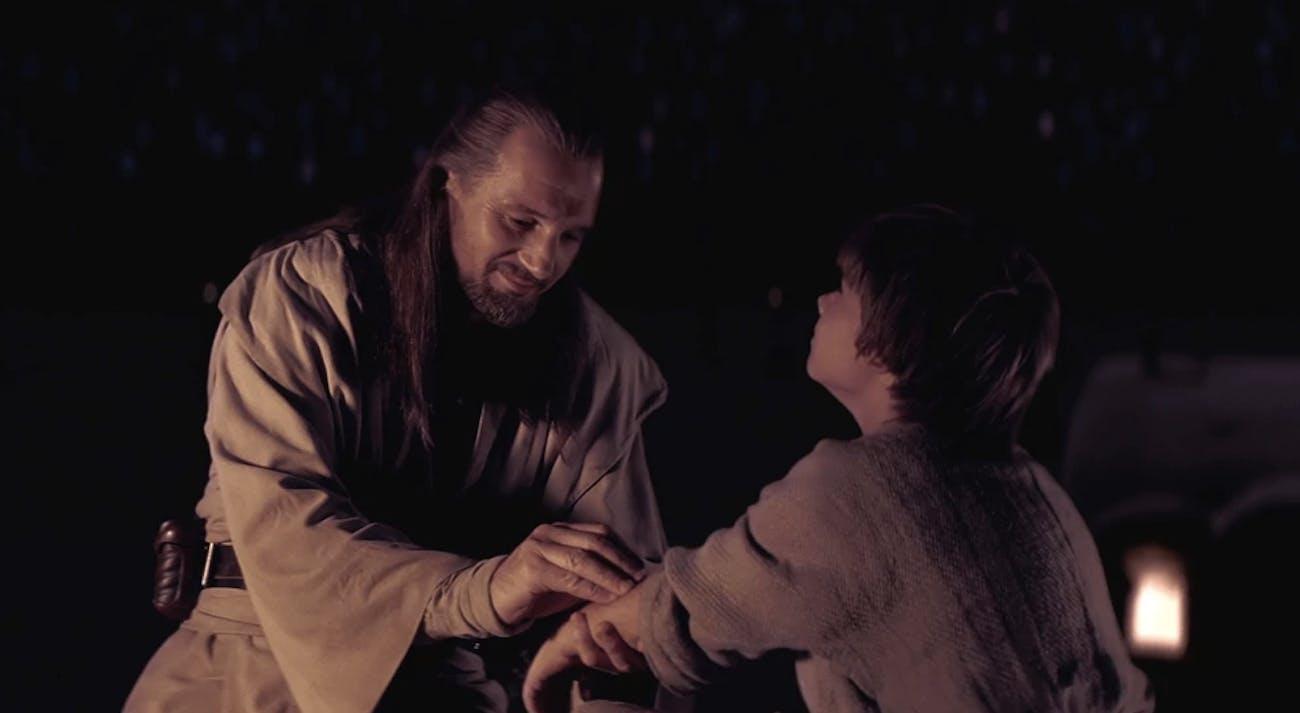 Phantom Menace Qui-Gon Anakin Tatooine