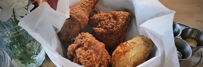 Sweet Chick Bucket: Fried Chicken, Buttermilk Biscuit, Kohlrabi Slaw Slaw