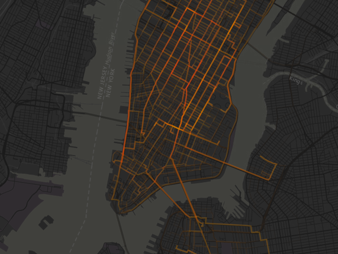 This Map Shows How Bicycles Weave Through NYC by the Hour