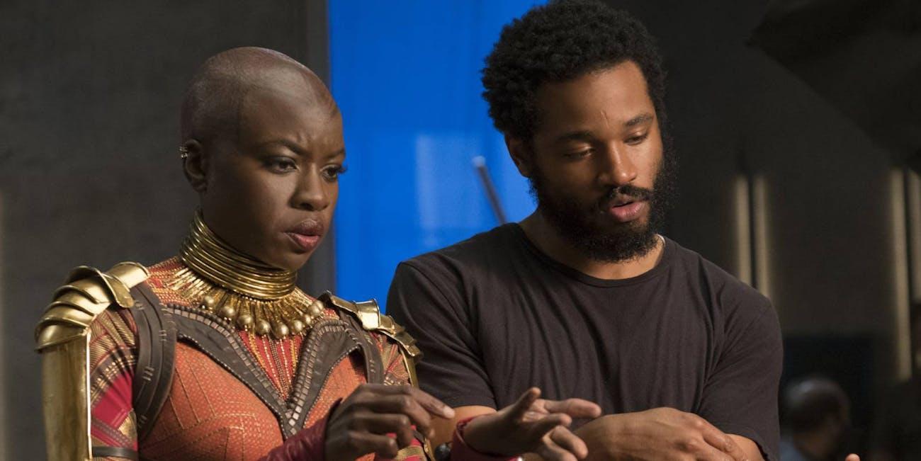 Danai Gurira and 'Black Panther' director Ryan Coogler.