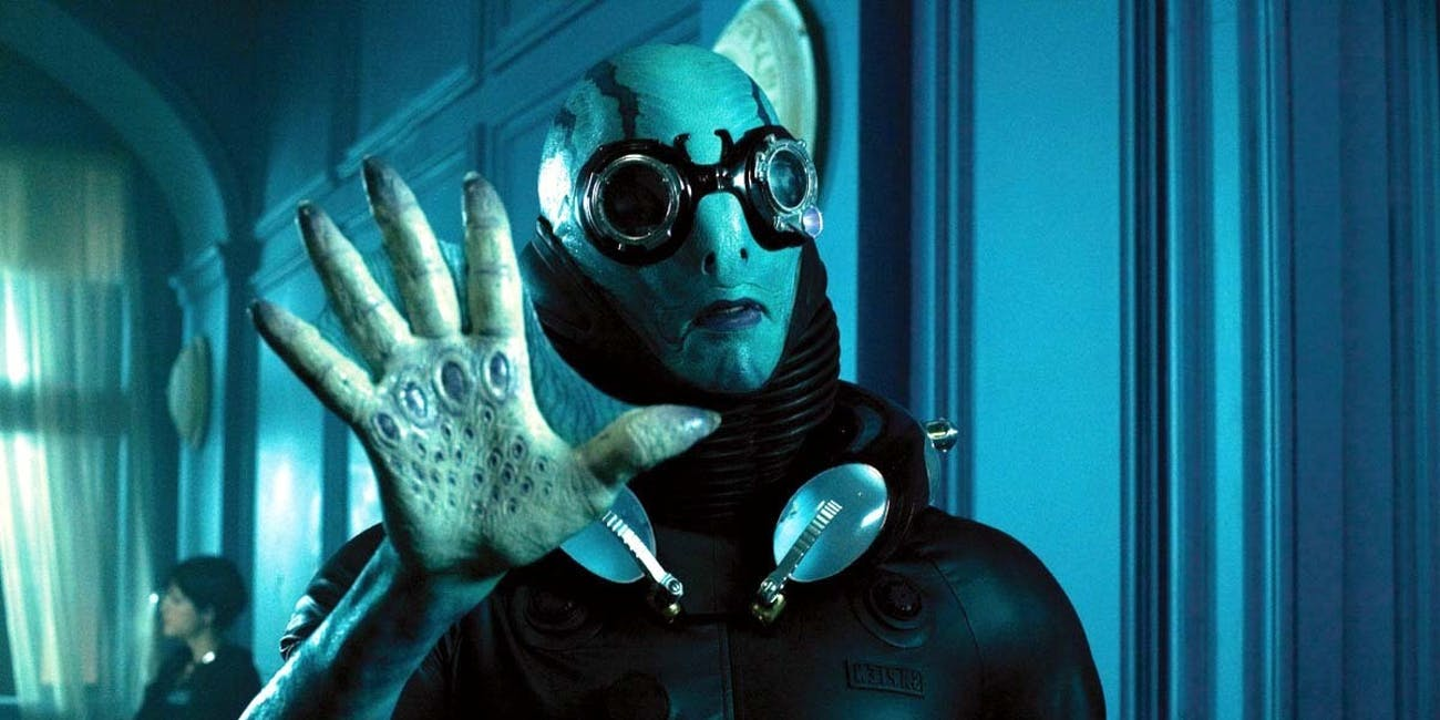 Abe Sapien, an aquatic hero in Guillermo Del Toro's 'Hellboy' films